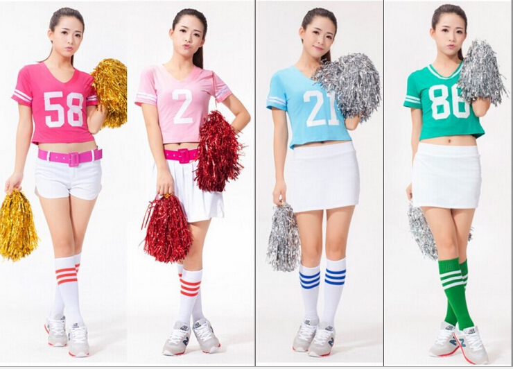 Free shipping!!New arrived!Football Cheer Performance Clothing Girlhood in same Costumes Cheerleader Uniform(China (Mainland))