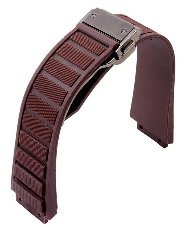 26 мм x 19 мм ( часы наконечник ) розовое золото развертывания застежка бежевый мягкий дайвинг силиконовой резины ремешок для часов ремешок