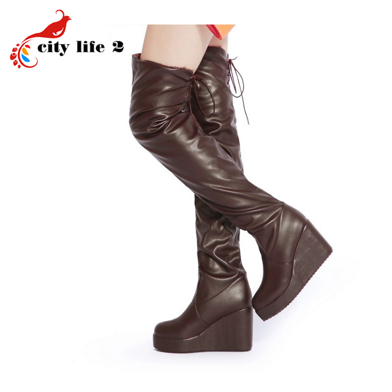 Winter Over Knee Boots 2014 New Womens Warm Sexy High Boots Female Botas Femininas<br><br>Aliexpress