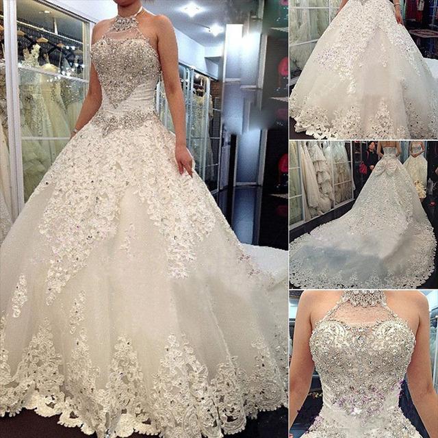 Урожай принцесса бальное платье свадебные платья роскошные кристалл свадебные платья ...