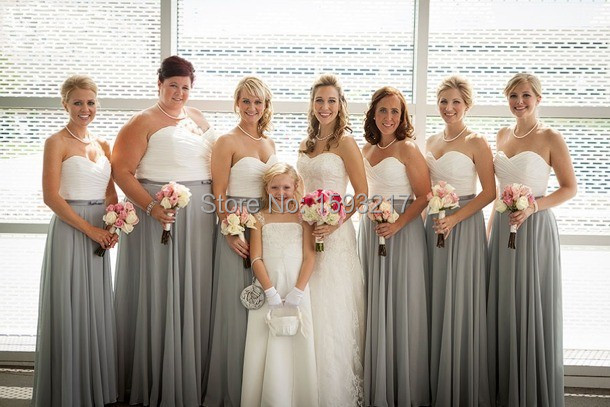 charcoal bridesmaid dresses - Gowns and Dress Ideas