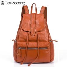 2016 New Brand Design Genuine Leather Women's Backpacks Cowhide Shoulder Bag Hot Sales Ms School Bag Travel Backpack WBB17(China (Mainland))