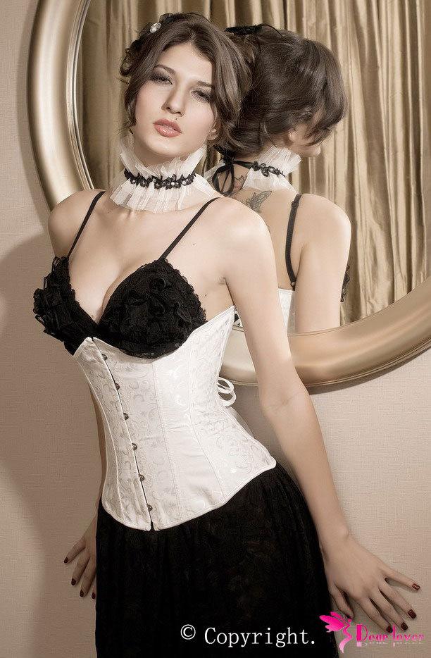 Slimming Underwear Shapers Waist Cincher Beige Under Bust Satin Corset body shaper Women shapewear waist trainer