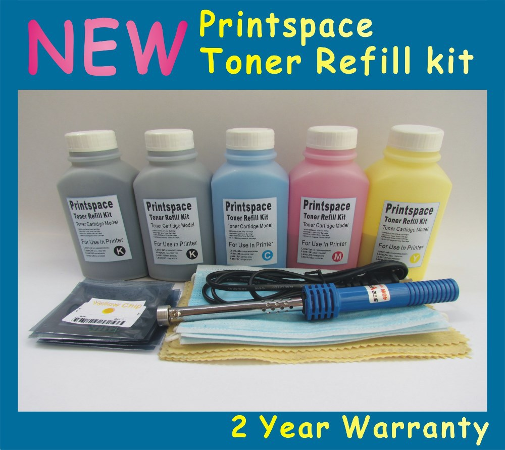 Фотография 5x NON-OEM Toner Refill Kit + Chips Compatible With HP 131A LaserJet Pro 200 color M276 M276N M251 M251n M251nw(1800 pages)