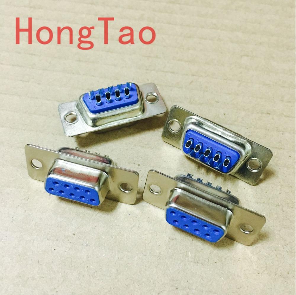 10pcs RS232 serial port connector DB9 female socket/Plug connector 9pin copper RS232 COM socket adapter(China (Mainland))
