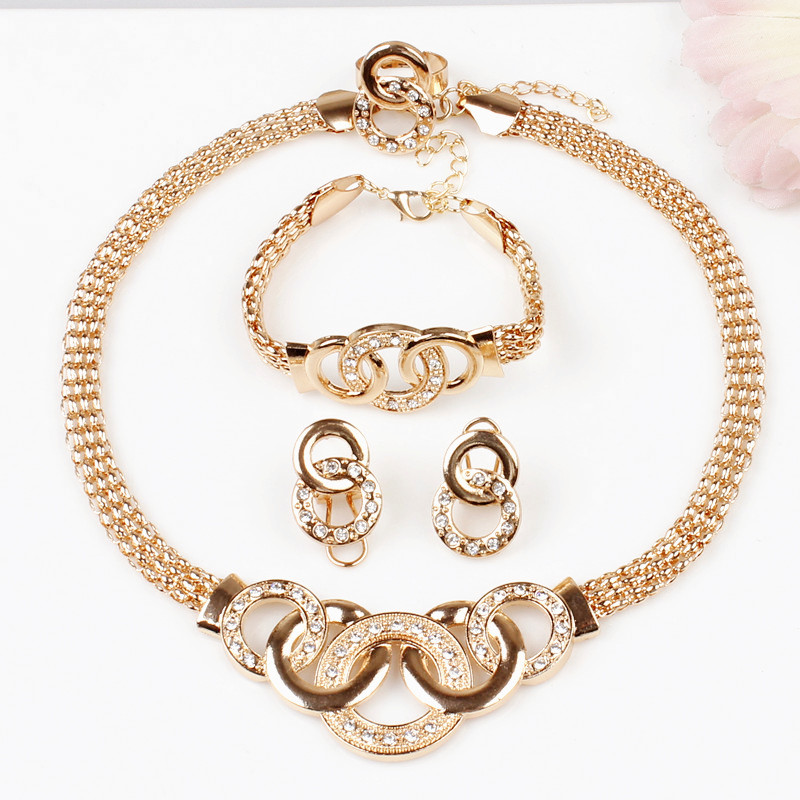 New product gold round pendant necklace 18k gold plated for Is gold plated jewelry worth anything