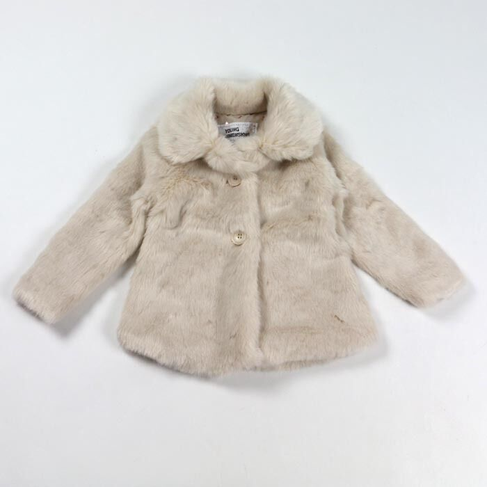 Girls White Fur Coat