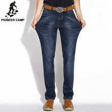 Pioneer Camp!!!2016 New Men Jeans Homme Casual Men Pants Straight Slim 98% Cotton Elastic Fabric High Quality and Free Shipping(China (Mainland))
