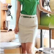 2014New Summer Women Skirts Korea Style Slim A-Line Brief Career Pencil Saias Office Ladies /OL Work Wear - BuyMallHere store