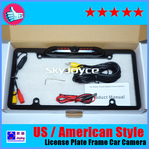 Waterproof IP68 US style license plate rear view camera car styling night vision license plate frame backup camera BUICKparking(China (Mainland))