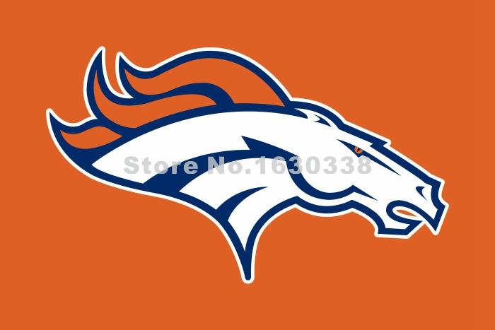 Denver Broncos Logo Flag 3ft X 5ft Polyester NFL Denver Broncos Banner Flying Size No.4 144* 96cm Custom Flag Orange Color(China (Mainland))