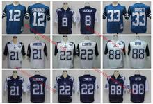 Stitiched,DALLAS cowboy,Troy Aikman,Irvin,Emitt Smith,Deion Sanders,Tony Dorsett,Roger Staubach,throwback for mens,camouflage(China (Mainland))