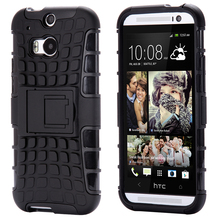 High quality Shockproof Hybrid Case for HTC One M8 Kickstand Soft TPU + PC Accessories Stand Hard Back Armor Cover for HTC M8(China (Mainland))