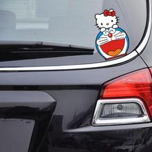 Car-Styling Hello Kitty And DORAEMON Funn Car Sticker Cute Decal For Citroen c4 Golf 4 Benz Smart Fortwo Kia Peugeot 308 Audi a3