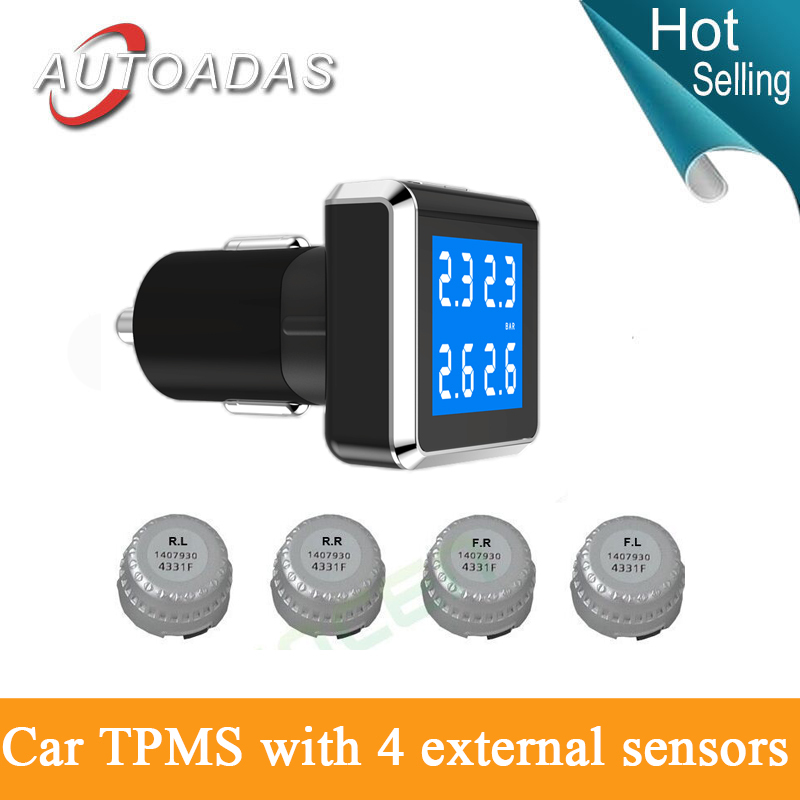 new design!tyre pressure monitoring system with 4 external sensors blue background TPMS PSI/BAR diagnostic tool tire pressure(China (Mainland))
