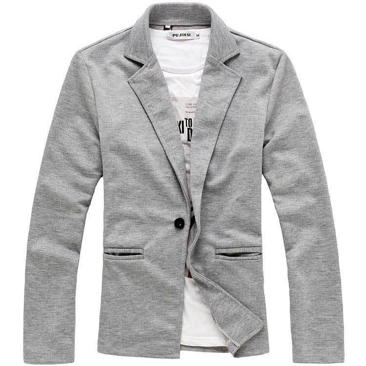 2015 новое поступление мода досуг мужчины тонкий костюмов человек одна кнопка трикотажные ткани костюм смокинг мужчины свободного покроя костюм куртки