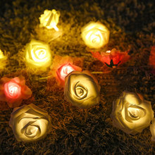 Buy 2M 20Leds Rose Flower String Holiday Lighting Fairy Wedding Party Christmas Garlands Decoration AA Battery Guirlande Lumineuse for $8.15 in AliExpress store