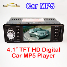 "4.1"" Inch TFT HD Car MP5 Player Rear View Camera 12V FM Radio /Charger /MP3 /MP4 /Audio /Video /USB /SD/AUX 1 DIN FREE SHIPPING(China (Mainland))"
