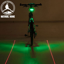 Buy NaturalHome LED Bike Lights Laser Beam Bicycle Accessories Cycling Tail Rear 2 Mode Light Safety Warning Lamp Led for $5.13 in AliExpress store
