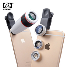 Buy 20pcs/lot 12X Telephoto Telescope Optical Zoom Lens+ Wide Angle & Macro+ Fisheye Lens iPhone 6 Plus 6s Samsung Note4 5 for $219.99 in AliExpress store