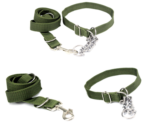 New Arrival Collars For Dogs Army Green Dog Collar Durable Collar For Large Dog Super Cool Dog Harness Free Shipping(China (Mainland))