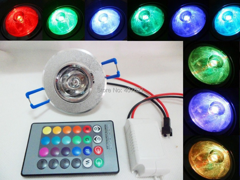 Ceiling light 3w rgb color change led remote recessed - App to change color of kitchen cabinets ...