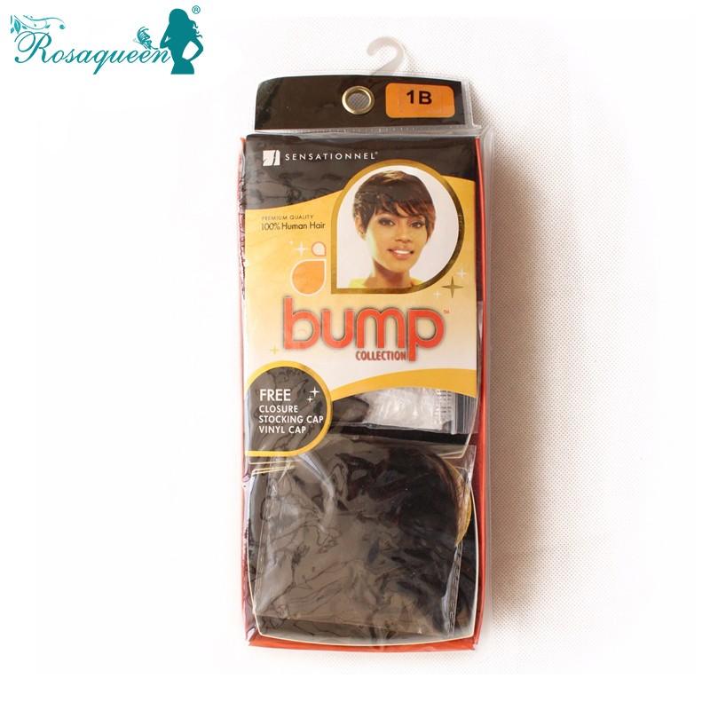 Brazilian 27 Pieces Short Hair Weave With Free Closure Virgin Human Hair Short Bump Weave 27 Pieces 3 Pcs/Lot Free Shipping DHL