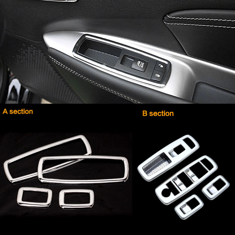 2016 abs 4pcs set car styling interior door window lift switch panel cover for jeep grand. Black Bedroom Furniture Sets. Home Design Ideas