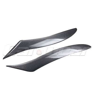 RX8 Carbon Fiber Front Headlight Cover Trim Sticker Eyelid Eyebrow For Mazda RX8 2008-2010(China (Mainland))