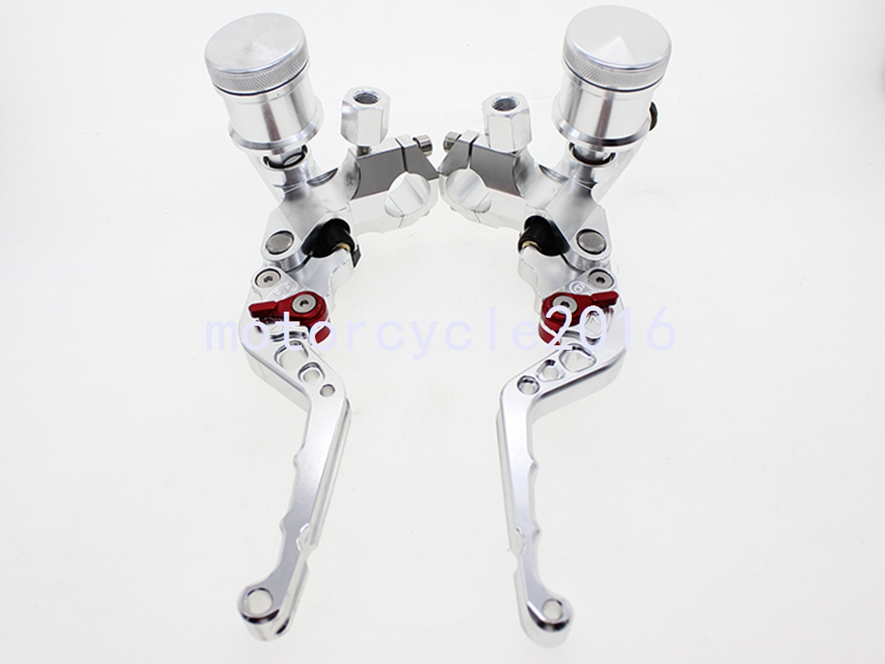 "Фотография For Motorbike 100-600cc Motorcycle 7/8"" Front Brake Clutch Hydraulic Silver Master Cylinder"