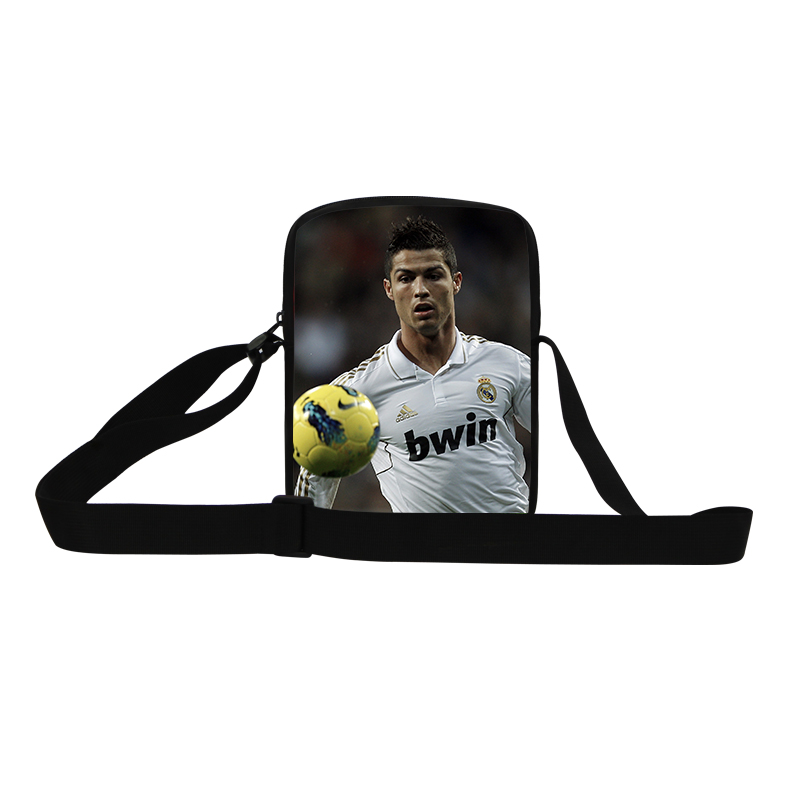 Best Gifts For Kids 3D Cristiano Ronaldo Mini School Bags For Boys Round Messenger Bag Baby Shoulder Bags Students Schoolbag(China (Mainland))