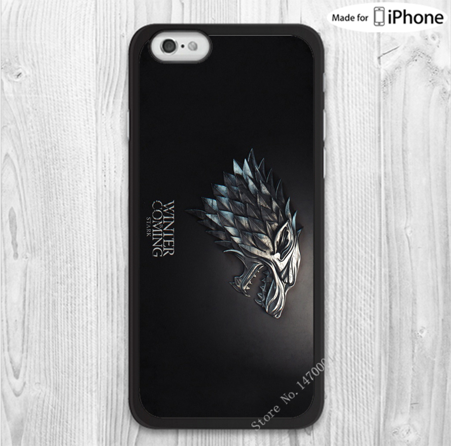 1PCS Free shipping game of thrones winter is coming stark mobile phone cases cover for iphone 4 4s 5 5s 5c 6 6 plus with gift(China (Mainland))