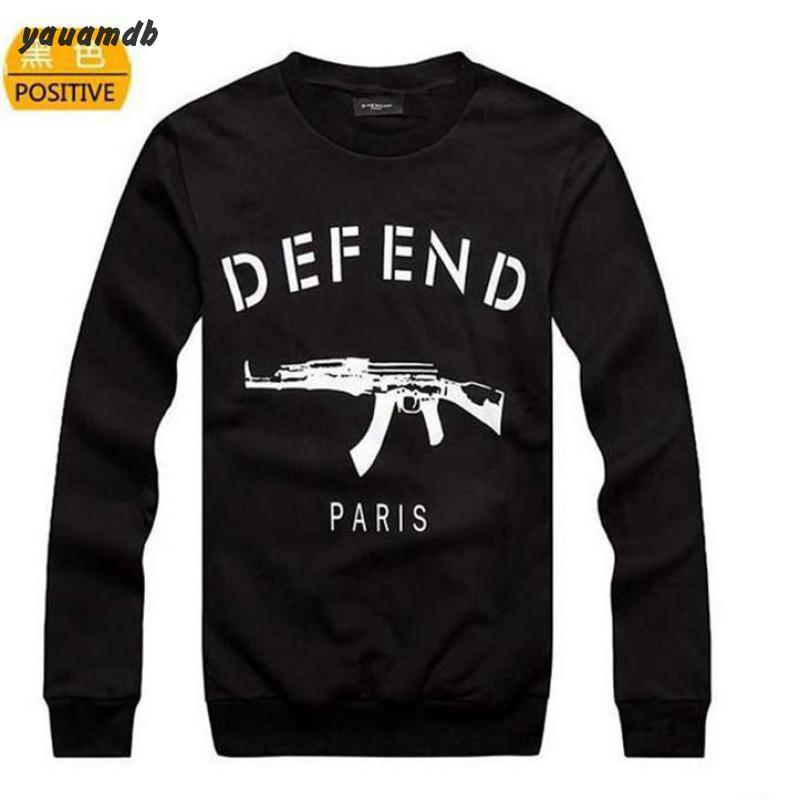yauamdb men sweatshirt clothing 2016 spring/autumn man brand pullover tracksuits male DEFEND paris AK47 print sportswear y45(China (Mainland))