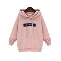 2017 New Arrvied Fashion Grey Pink Streetwear Sweatshirts Hoodies for women Pullover harajuku Fashion kawaii BTS