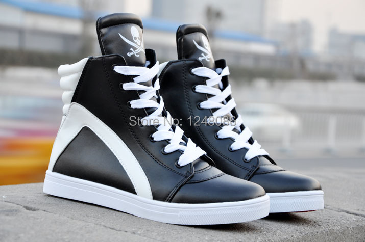 2014 New High-top Shoes EU 39-44 Good Quality Man Casual Lace-up Sneakers Winter Men Fashion Ankle Boots A095