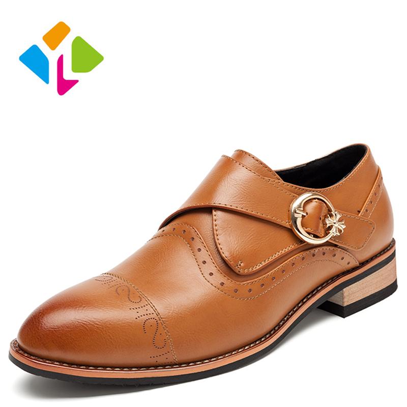 2016 New Fashion Men Flats Shoes Microfiber Men Brogue Shoes Breathable Buckle Decoration Men Flats Leather Shoes<br><br>Aliexpress