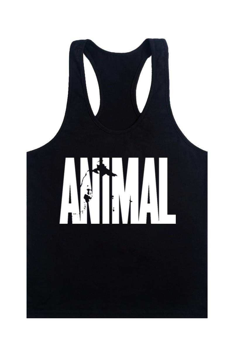 Animal Gym Fitness Tank Top Men Stringer Golds Bodybuilding Muscle Shirt Workout Vest Cotton Sport