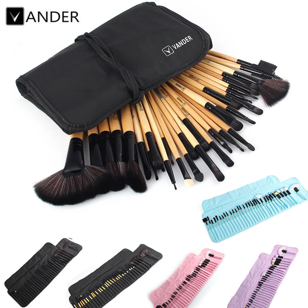 VANDER 32Pcs Set Professional Makeup Brush Set Foundation Eye Face Shadows Lipsticks Powder Make Up Brushes Kit Tools + Bag(China (Mainland))