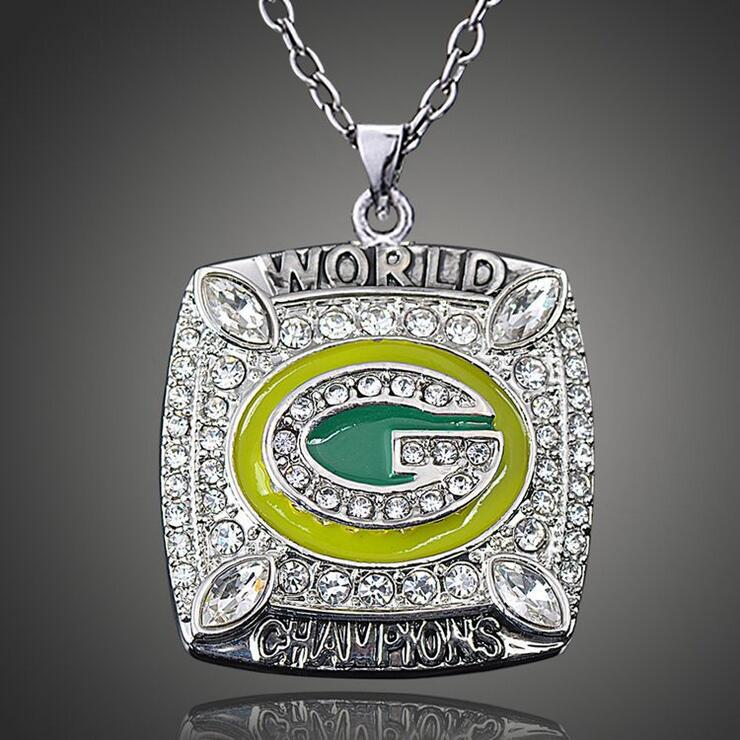 2011 Green Bay Packers Super Bowl Champion Necklaces Pendants National Football Championship Necklaces Classic Collection(China (Mainland))