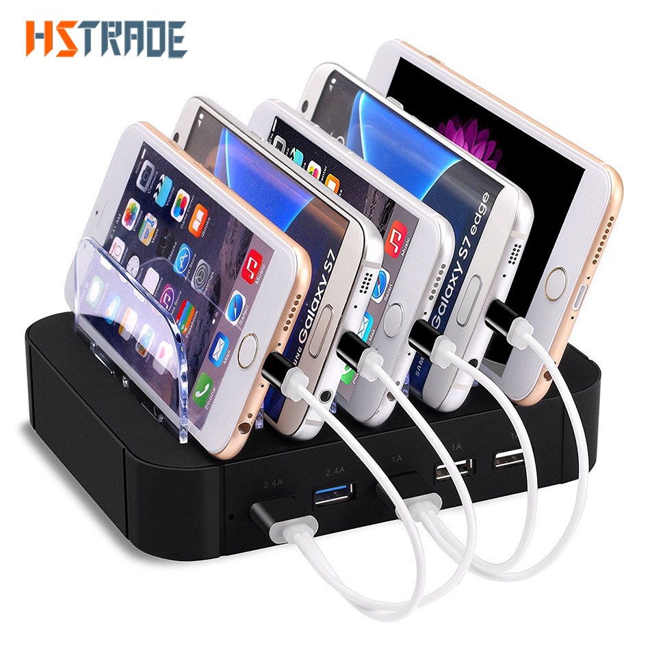 HSTRAOE 48W Intelligence universal 5 port multi USB Charger Station dock for Sony HTC DHL iphone Samsung charger free shipping(China (Mainland))