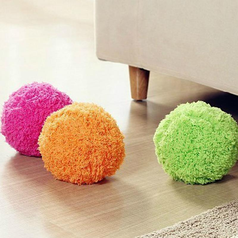 Free Shipping 1 Piece Mini Robot Floor Cleaner / Microfiber Mop Ball, 4 Colors Random Color(China (Mainland))