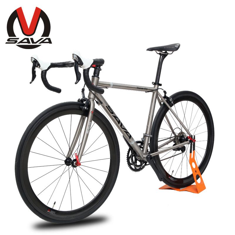 SAVA 700C Racing Ultralight 9.1KG Road Bike-Rattlesnake Bicycle Titanium Alloy Frame Carbon Fiber Parts SHIMANO Bike Derailleur(China (Mainland))