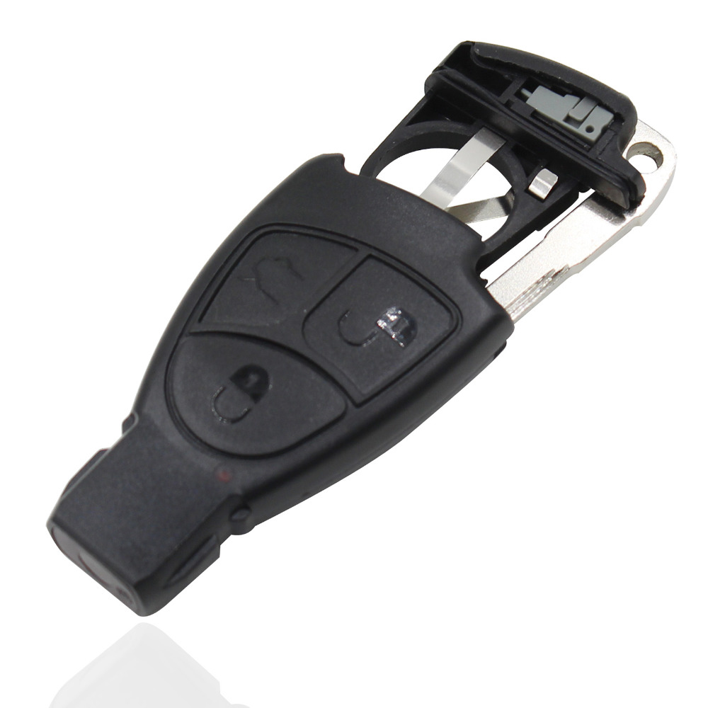 Car 3 buttons smart key case cover battery holder clip for Mercedes benz key pouch