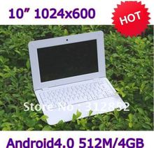 Free shipping by DHL !! sell 2pcs cheap 10'' laptop with android4.0, wifi, camera, and RJ45 port and USB ports(China (Mainland))