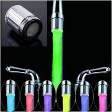 2 stücke Keine batterie Automatische Drucksensor 7 Farbe Rgb-glühen-dusche-led-licht Wasserhahn Anzapfung(China (Mainland))