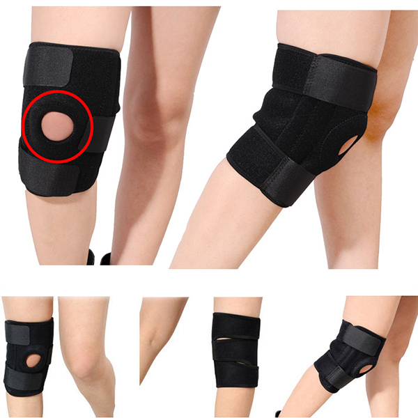 Knee Support Sports Pad Climbing Cycling Protection Warm Football Volleyball Brace Adjustable Kneepad(China (Mainland))