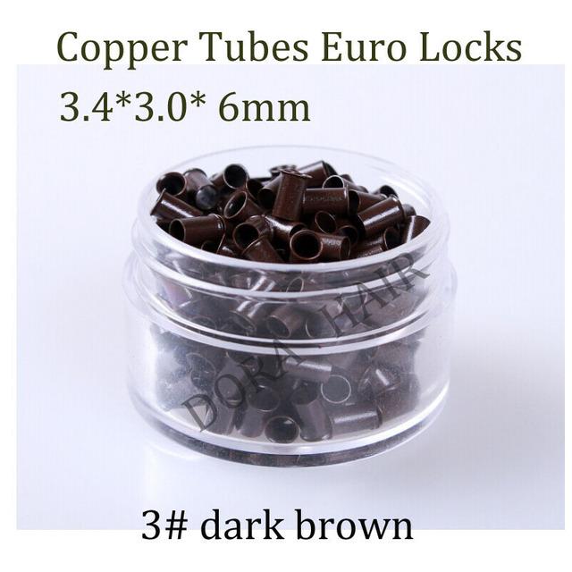 1000 шт. 3.4 * 3.0 * 6 мм 3.5 мм вспышки евро замок медные трубы микро-кольца ссылки ...