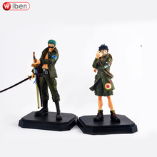 Anime One Piece Roronoa Zoro Monkey D Luffy 21cm PVC Action Figure Army Camouflage Model Toy Collection