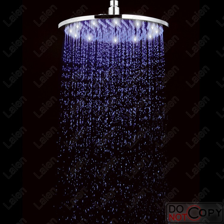 12-inch full LED light copper top spray nozzle temperature change of the light-emitting shower head LED shower faucet shower<br><br>Aliexpress