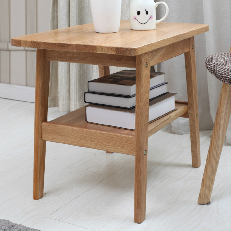 Furniture White Oak Solid Wood Side Table Tea Table Home